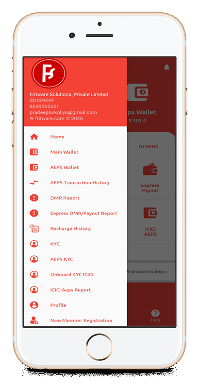 Fritware app layout